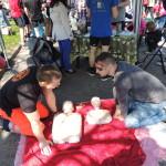 Biegi park Kusocińskiego 03 maja 2015r., pierwsza pomoc